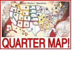 WHITMAN Educational Products - Us State Quarters Collector Map Album - Collect all 50 state quarters PLUS the district of columbia and territories - Funzalo Toys