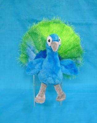 "Wishpets 7"" Sitting Peacock Plush Toy - Funzalo Toys"