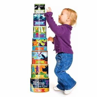 Wee Believers 129182 Toy-All Things Nesting Cylinders - Funzalo Toys