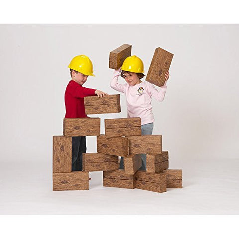 Giant Timber Blocks (16 Pieces) - Funzalo Toys