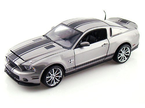 2012 Ford Shelby GT500 Super Snake 1/18 Silver w/Black Stripes - Funzalo Toys