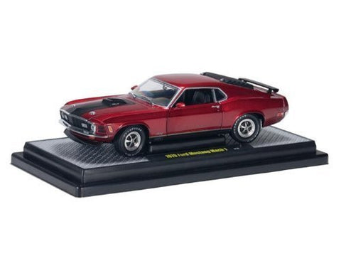 1970 Ford Mustang Mach 1 1/24 Candy Apple Red - Funzalo Toys