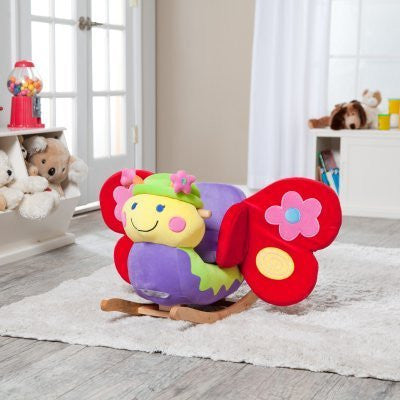 Charm Company Butterfly Rocker with Musical Sound - Funzalo Toys