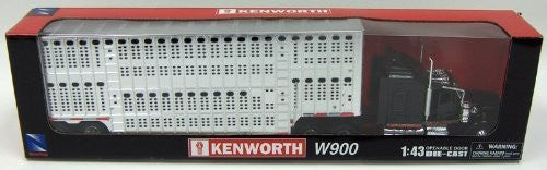 1/43 D/C Kenworth W900 Pot Belly Livestock Trailer - Funzalo Toys