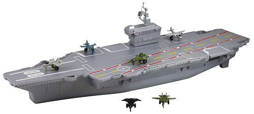 "MotorMax 18"" Aircraft Carrier Playset with Realistic Sounds - Funzalo Toys"