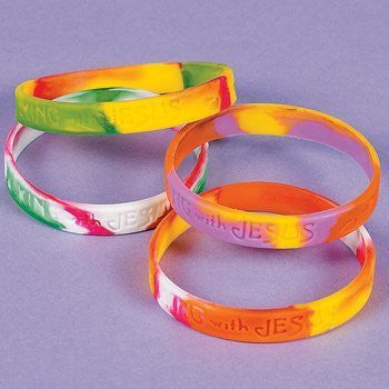 Silicone Walking With Jesus Bracelets (1 dz) - Funzalo Toys