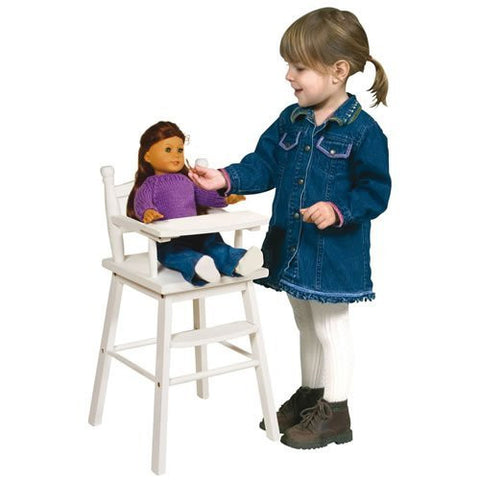 Precious Doll High Chair, White - Funzalo Toys