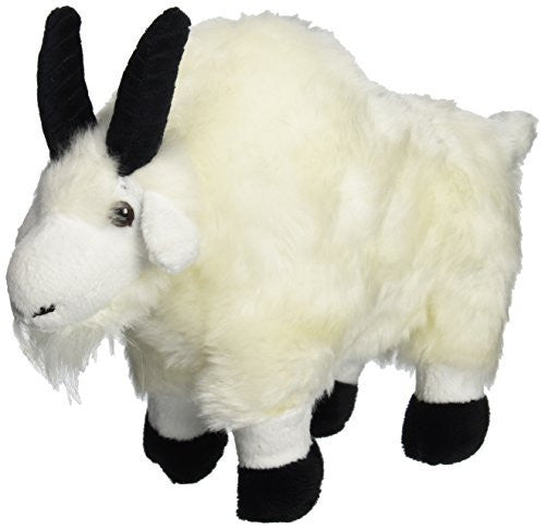 "Wishpets 7"" Standing Mountain Goat White Plush Toy - Funzalo Toys"
