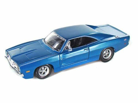 1969 Dodge Charger R/T 1/25 Blue - Funzalo Toys
