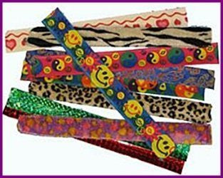 12 assorted slap bracelets - Funzalo Toys