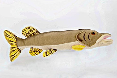 "10"" Northern Pike Fish Plush Stuffed Animal Toy by Cabin Critters - Funzalo Toys"