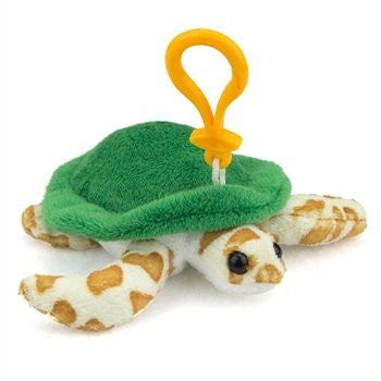 Green Sea Turtle Plush Sea Turtle Stuffed Animal Backpack Clip Toy Keychain WildLife Artists - Funzalo Toys