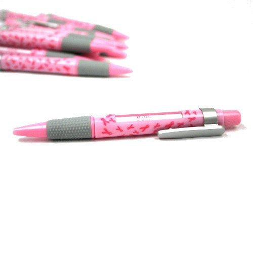 Pink Ribbon Breast Cancer Awareness Message Pens - 12 ct - Funzalo Toys