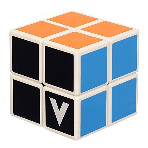 V-Cube 2 Cube Toy, White/Multicolor - Funzalo Toys