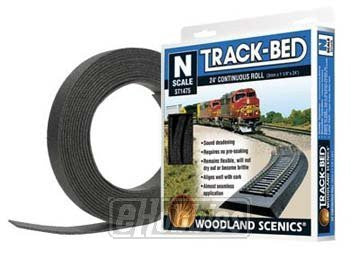 Woodland Scenics WS 1475 N Trackbed Roll 24 ft. - Funzalo Toys