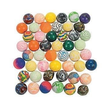 50 piece Assortment of 38mm super bouncy Balls - Funzalo Toys