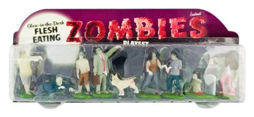 Accoutrements Glow In The Dark Flesh Eating Zombies Play Set - Funzalo Toys