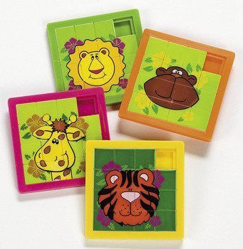 Zoo Animal Slide Puzzles - Games & Activities & Puzzles - Funzalo Toys