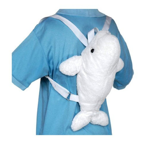 "Beluga Whale Backpack 11"" by Fiesta - Funzalo Toys"