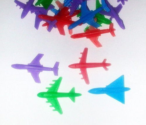 ~ 72 ~ Plastic Planes / Airplane Toys ~ 6 Per Package X 12 ~ 2 Inch ~ New - Funzalo Toys
