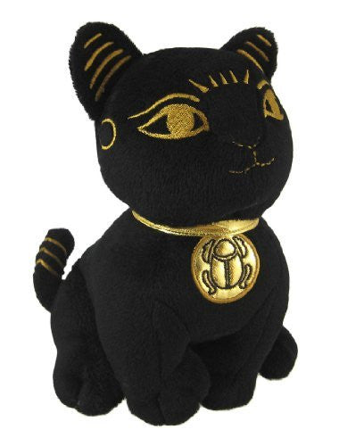Black Egyptian Toy Cat Goddess Bastet Figure Bast Stuffed Plush Animal - Funzalo Toys