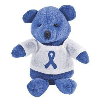 12 Plush Blue Awareness Ribbon Bears - Funzalo Toys