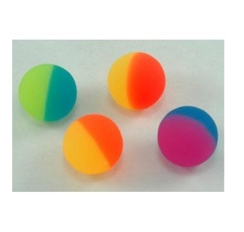 12 Two-tone Icy Super Bouncey Balls -Fun 32mm High Bounce Balls -Great Stocking Stuffers - Funzalo Toys