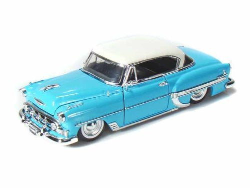 1953 Chevy Bel Air 1/24 Showroom Floor Light Blue w/White - Funzalo Toys