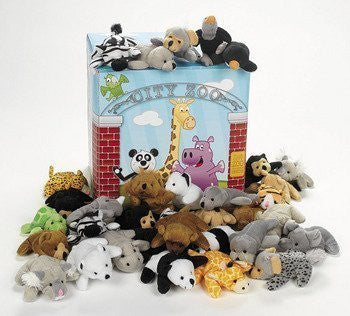 Fun Express Plush Mini Bean Bag Zoo Animal Assortment - Funzalo Toys