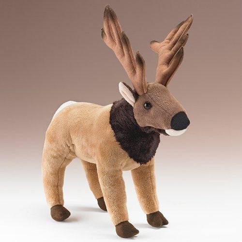 "Elk Standing Plush Toy 15"" High - Funzalo Toys"