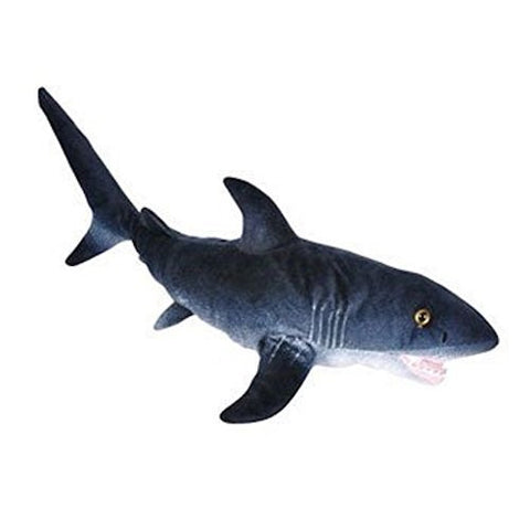 Adventure Planet Plush - PRINTED GREAT WHITE SHARK (24 inch) - Funzalo Toys