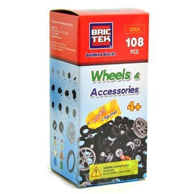 Brictek Wheels Kit - 108 pcs - Funzalo Toys