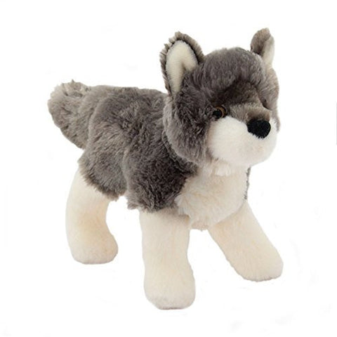 "Ashes Wolf 8"" by Douglas Cuddle Toys - Funzalo Toys"
