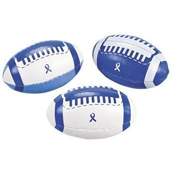 12 Blue Awareness Ribbon Footballs - Funzalo Toys