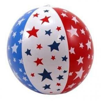 "14"" Patriotic Beach Ball Inflate - Funzalo Toys"