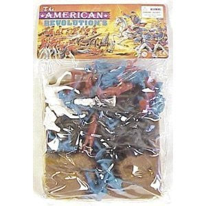 54mm Revolutionary War Embankment & Figure Playset (Bagged) by Americana Souvenirs - Funzalo Toys