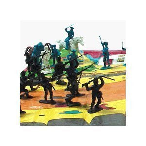 50 piece Revolutionary War Plastic Army Men 65mm Soldier Figure Toy Set - Funzalo Toys
