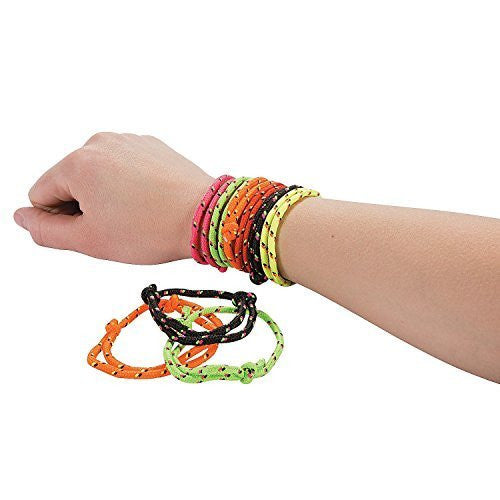 Fun Express Nylon Friendship Rope Bracelets (1-Pack of 72) - Funzalo Toys