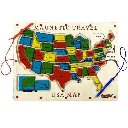 Anatex Magnetic Travel USA Map - Funzalo Toys