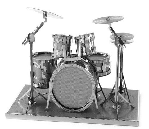 Fascinations Metal Earth 3D Laser Cut Model - Drum Set - Funzalo Toys