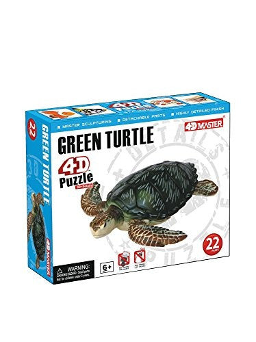 4D Puzzle - Green Turtle - Funzalo Toys