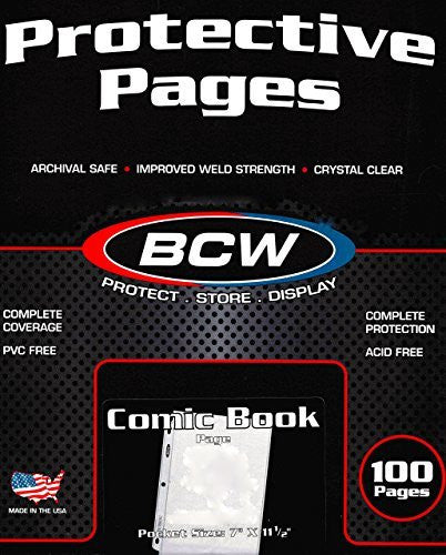 BCW Pro Comic Page Comics, Comic Books Storage Collecting Supplies, 100 Count Box - Funzalo Toys