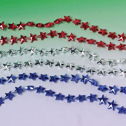 12 count Star Beaded Necklaces assorted colors - Funzalo Toys