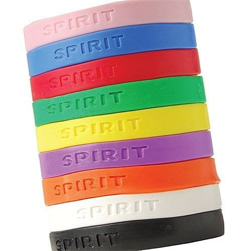 Assorted Color Rubber Spirit Bracelets - Funzalo Toys