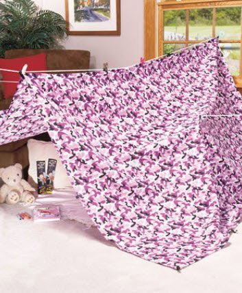 Kids Build a Fort Kit - Purple Camo - Funzalo Toys