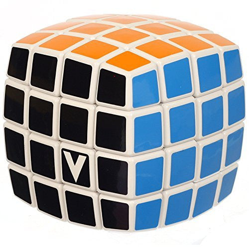V-Cube 4 Cube Pillowed Cube Toy, White/Multicolor - Funzalo Toys