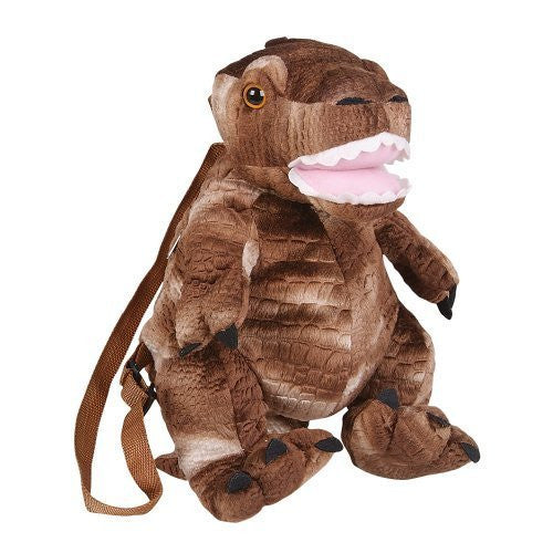"15"" Tyrannosaurus Rex Dinosaur Plush Stuffed Animal Little Backpack - Funzalo Toys"