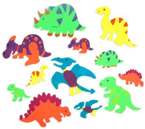 Foam Adhesive Dinosaur Shapes (500 pc) by Fun Express - Funzalo Toys