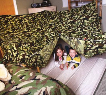 Kids Build a Fort Kit - Green Camo - Funzalo Toys