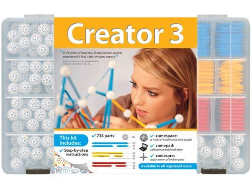 Zometool Creator 3 Construction Kit - Funzalo Toys
